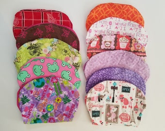Flannel Baby Burp Cloths with Multiple Designs