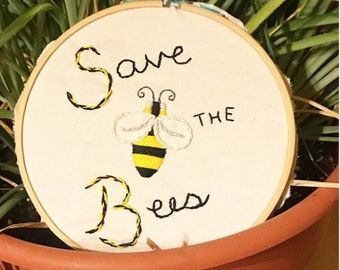 Save the Bees 6' Embroidery