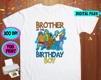 Scooby Doo. Iron On Transfer. Scooby Doo Printable DIY Transfer. Scooby Doo Brother Shirt DIY. Instant Download. Digital Files Only.