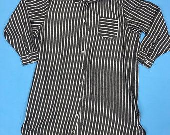 Classic cold print open chest tunic