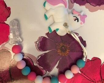Unicorn Teething Clip