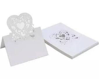 Romantic heart place cards x20