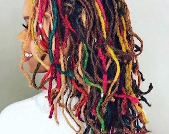 10pcs per bundle dreadlocks , locks, human hair, Rasta,handmade,afro kinky ,dyeble human hair,dread