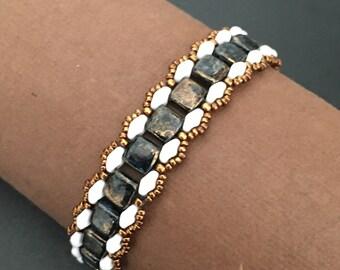 Art Deco Black and White Bracelet