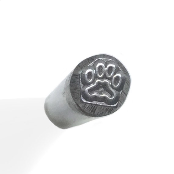 Puppy paw metal design stamp jewelry making from