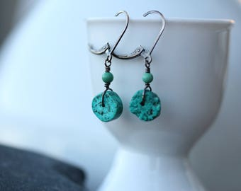 Earrings : Sterling and Turquoise