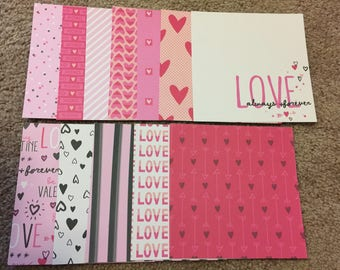 Valentine's Day 6x6 themed scapbook cardstock
