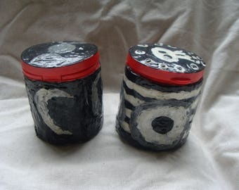 2 Evil Eye And Goddess Moon Medicine Containers