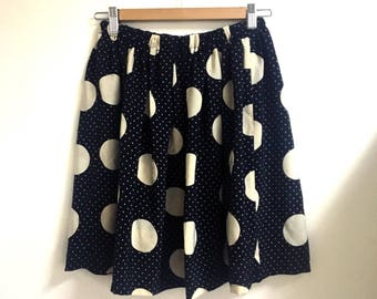 S A L E • Polka Dots Above Knee Skirt