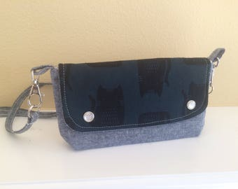 The Hipster Bag- A Modern Fannie Pack- Cat Silhouette
