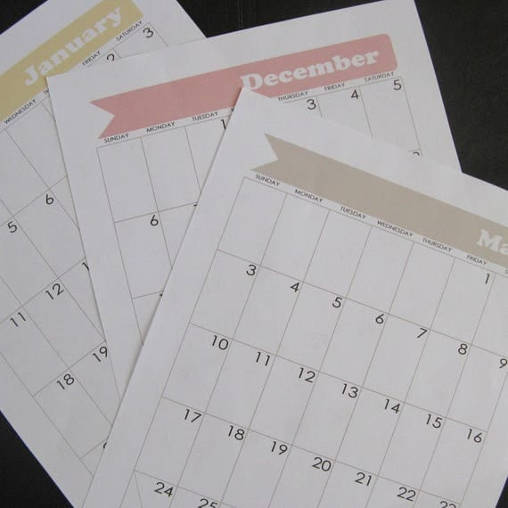 Calendar Wheel Bullet Journal : Bullet journal printable calendar january through