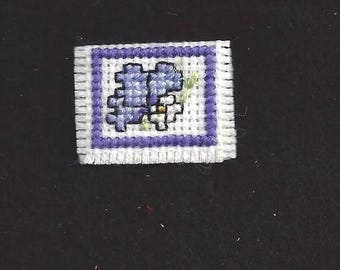 Doll's Cross-stitched Clutch Purse
