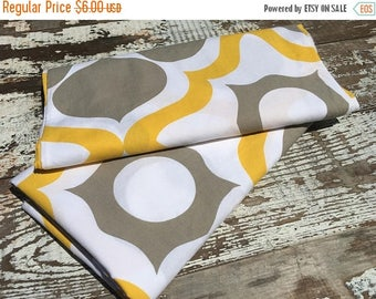 40% OFF- Retro Modern Fabric-Reclaimed Bed Linens-Gray and Yellow