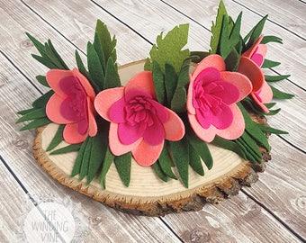 Moana Crown / Moana Headband / Moana Birthday / Moana Costume / Flower Crown / Hawaiian Crown /Tropical Crown / Hawaiian Headband / Plumeria