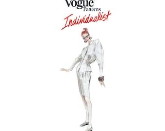 80s uncut Vogue Individualist pattern Montana Designer Shirt pattern Coat pattern Pants pattern Skirt vintage 32.5-25-34.5 Vogue 2027