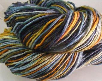 SALE... Was 8.50... Now 6.00...BRAVEHEART...handspun, handpainted wool yarn...4oz...188yd