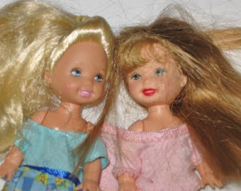 2 Mattel 1994 Kelly(?) or Barbie Friend Dolls-4in-Barbie Dolls-Barbie's Little Sister-Barbie Family-Barbie Friends