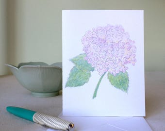 Cards - Hydrangea, set of 4