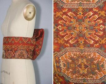 vintage obi / TAPESTRY / woven silk / kimono belt
