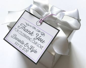 112  Customized THANK YOU tags - etsy shop, wedding and shower favors, trade and craft shows