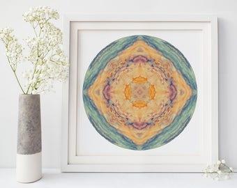 Mandala Wall Art, Spa Art, Peaceful Art, Meditation Decor, Abstract Photography, Mandala Print
