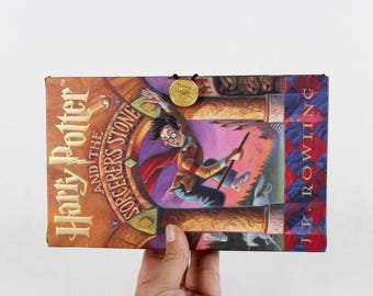 Book Clutch Purse- Harry Potter and the Sorceror's Stone- made from recycled book
