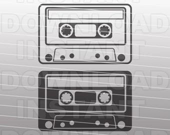 Cassette Tape SVG File - Mix Tape SVG File -Commercial & Personal Use - Vector svg file for Cricut,svg file for Silhouette,vinyl cutting