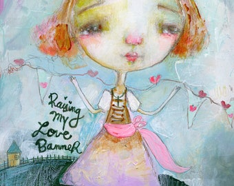Love Banner  - art print by Mindy Lacefield