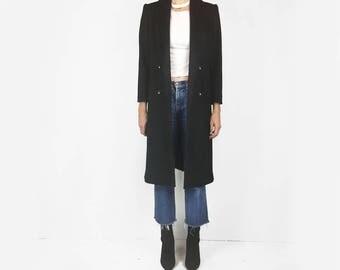 Black Wool Blazer Coat