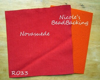 Ultrasuede/Novasuede Microfibor Fabric with Free Nicoles BeadBacking Brick Orange/Red RO33