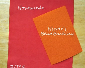 Ultrasuede/Novasuede Microfibor Fabric with Free Nicoles BeadBacking Brick Orange/Red RO34
