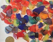 RESERVED Tumbled Art Glass Sea Glass Medium Pieces