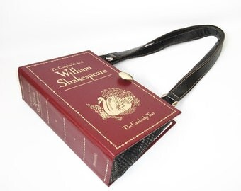 Complete Works of William Shakespeare Book Purse, Handmade Womens Handbag, Recycled Upcycled Bag