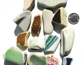 Sea Pottery Bulk Lot, 14 Striking Pieces