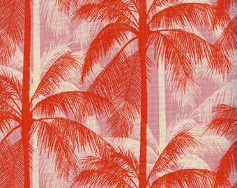 Cotton + Steel Poolside - palms - peach - 50cm - PRE-ORDER