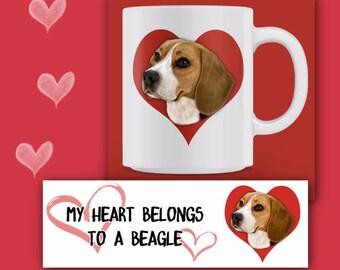 BEAGLE MUG, Beagle Coffee Mug, Beagle Lover Gift,  Beagle Rescue