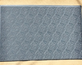 FLORAL Mandala  MEDALLIONS  Nature Embossed Rubber Texture Tile Mat Stamp for Clay inks Ceramics Paint Soap  MGT519