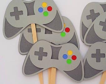 Video Game Cupcake Picks, Gamer Cupcake Toppers, READY TO SHIP