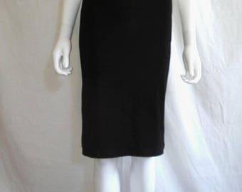Closing shop SALE 40% off 90s Skirt, Ribbed Black Skirt 90s, Skirt 90s ribbed midi