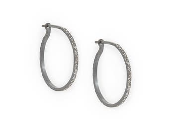diamond dusted hoops | SMALL