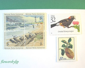 Destination Wedding Beach Postage Stamps, Tropical Plants - Tropical Birds Stamps, Mail 20 Invitations, 71 cents postage 2 oz, new 2018 rate