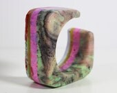 AS_81, resin bangle, statement jewelry, resin bracelet, violet bracelet, italian jewelry, handmade in italy,
