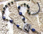Lapis and Mica Balm Necklace