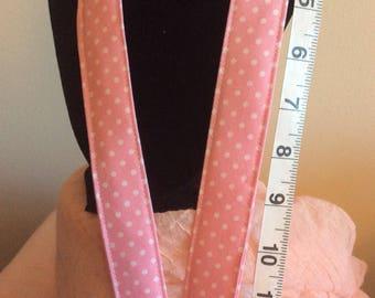 Pink/White Pin Dot Lanyard