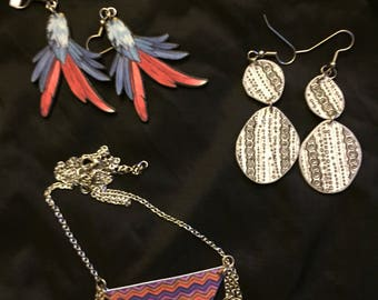 funkmaster earring and necklace set