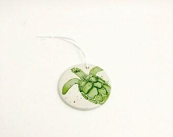 Beach Decor Sea Turtle Ornaments. Beach Christmas.Nautical Ornament. Trim Tree. Handmade By Sara Hunter