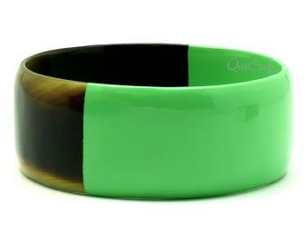 Horn & Lacquer Bangle Bracelet - Q11411-L