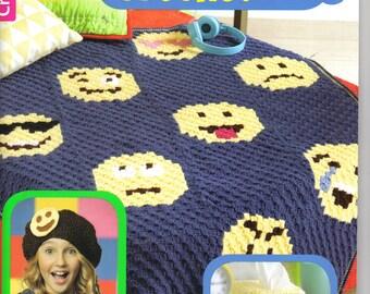 Emoji Crochet Book ~ Leisure Arts Soft Cover Book  ~  Crochet Patterns