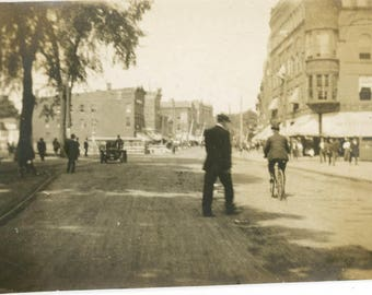 vintage photo 1906 City View New Haven Connecticut Ride Bike Dirt Road