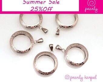 interchangeable pendant,DIY Stainless Steel Bead holder, pendant bead changeable, jewelry supplies, 317L Stainless Steel, beadable pendant
